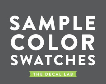 Swatch Color Samples - Wall Decals