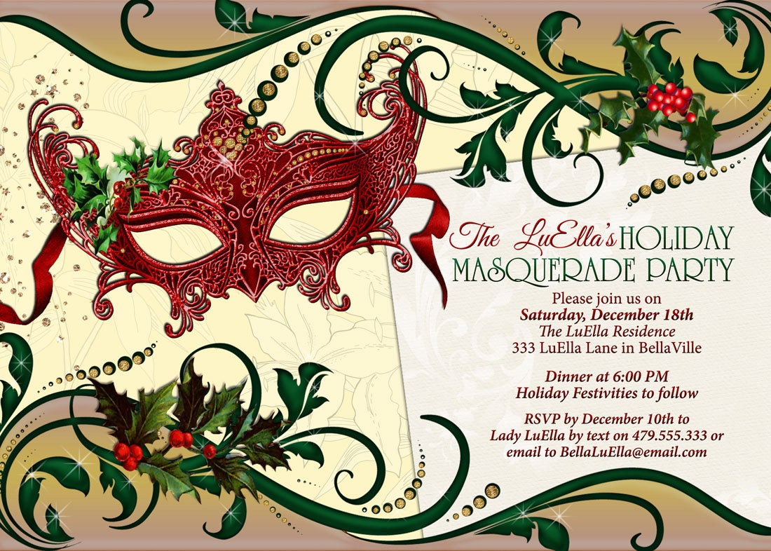 Awesome Masquerade Party Invitations Inspiration