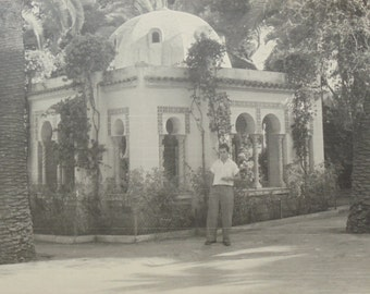 Vintage Photo - Man in Front of a Moroccan Style Building