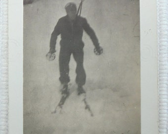 1930's French Photo - Skier on the Col de Chioula, Pyrenees, France
