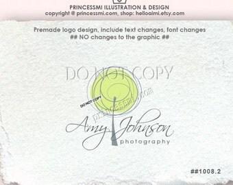 1008-2 doodle tree Logo Design, custom tree logo design, lime gree tree illustration photography business boutique
