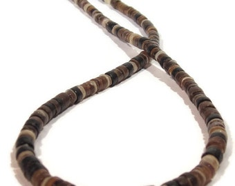 Natural Brown Shell Mens or Womens Necklace