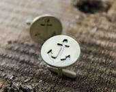 anchor cufflinks, brass cufflinks, mens accessories, mens cufflinks, nautical cufflinks, brass anchor, anchor jewelry, nautical jewelry
