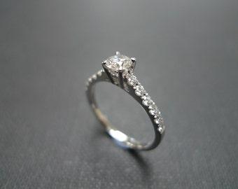 Diamond Engagement Ring / Diamond Ring / Wedding Ring / 0.30ct Diamond Ring / Diamond Band / Diamond Wedding Ring in 14K & 18K White Gold