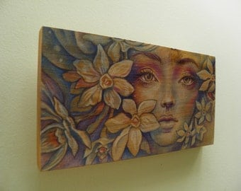 Flowers - Original Wood Panel Artwork