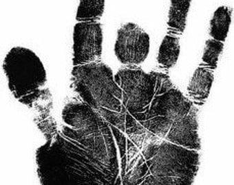 Jerry Garcia Crazy Fingers Handprint Digital Cross Stitch Pattern pdf