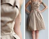 1950s Dress // Champagne Fizz Party Dress // vintage 50s dress