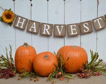 Harvest banner  ..  Fall sign  ...  Autumn  ..  Thanksgiving banner