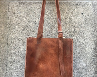 Personalized Shopper Tote, Large Leather Tote, Structured Tote Bags for Work, Handmade Handbags and Totes Custom Made
