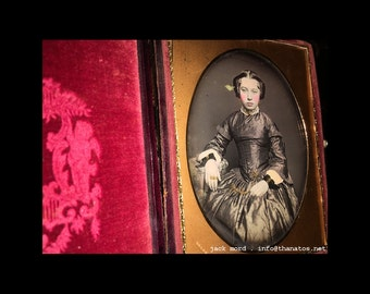 Large Half Plate Daguerreotype Beautiful Young Woman by Meade & Bro