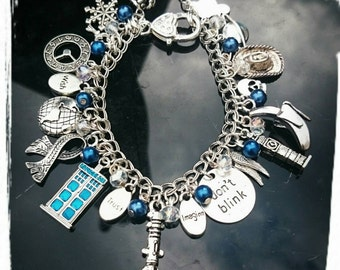 Doctor Who Inspired Fully Loaded Charm And Beaded Bracelet