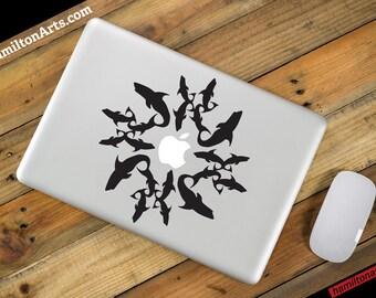 Shark Circle Vinyl MacBook Decal