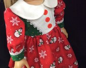 18 inch doll Christmas dress fits american girl sized doll