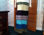 Upcycled Clothing, Sweater Skirt, Hippie Clothes, Boho Clothing, Wool Sweater, Small, Winter Skirt, Upcycled Sweater