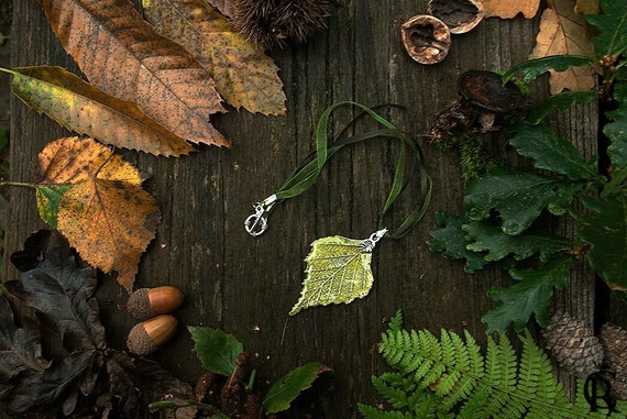 Leaf necklace pendant nature elven leaves Large Leaf Pendant Necklace, Red Heart Leaf Jewelry, Nature Jewelry