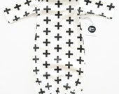Black Cross Baby Sleeper Gown Monochrome...