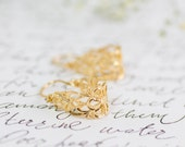 Lace Earrings, Bridesmaid Earrings, Filigree Earrings, Gold Earrings, Gold Lace Earrings, Victorian Style Earrings, Unique Earrings