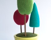 Multicolor Tree - Home Decor - Geometric - Red - Turquoise - Green