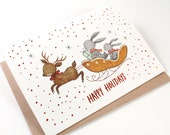 Christmas Cards - Happy Holidays - 10 Copper Foil Greeting Cards