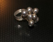 Mod Sterling Silver Ball Ring