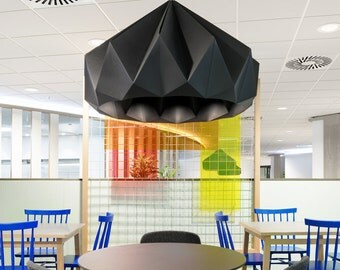 NEW: Chestnut XXL paper origami pendant lamp black