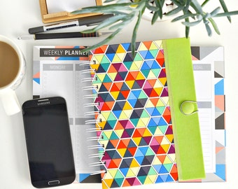 Fabric journal // WHAT THE HEX hardcover spiral notebook jotter diary