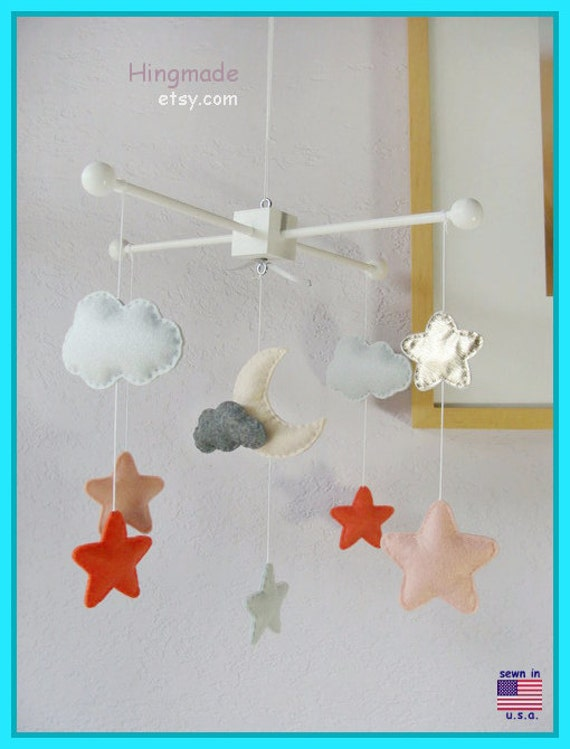 On Sale Moon And Stars Mobile Baby Mobile Nursery By Hingmade