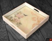 Handmade/Hand-painted Wooden Serving Tray