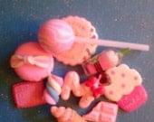 """kawaii cabochon decoden diy mini pink sweets mix  #112 """"  10 pcs---USA seller"""