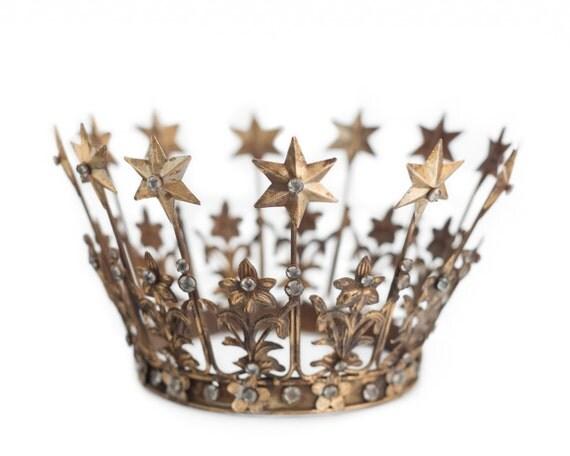Gold Tiara Crown Cake Topper