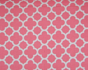 Custom Baby Items, Coral Quatrefoil, Cotton, Boppy Cover, Bobby, Crib Sheet, Bassinet Sheet, Bib, Change Pad Cover, Custom Baby Girl Bedding