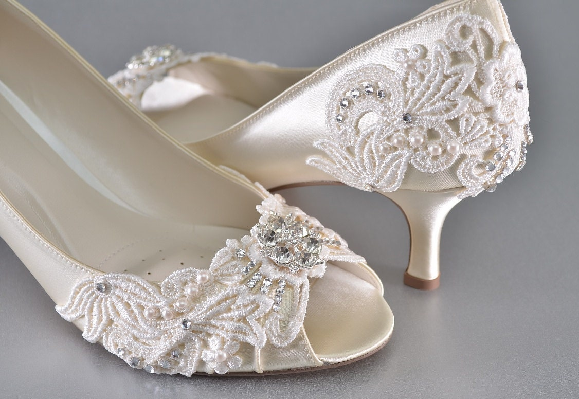 Womans Low Heel Wedding Shoes Womans Vintage