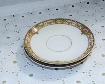 Vintage Theodore Haviland Limoges France~Tea Saucers~Set of 2