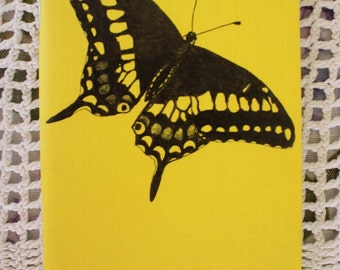 Black Swallowtail Butterfly - Hand Illustrated Pocket Sketchbook / Notebook / Journal