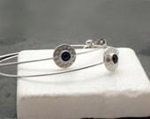 Silver Hoop Earrings, Large Hoop Earrings, Boho Hoop Earrings,  Silver Wire Minimal Dainty Earrings, Simple Earrings, Hipster Summer Jewelry