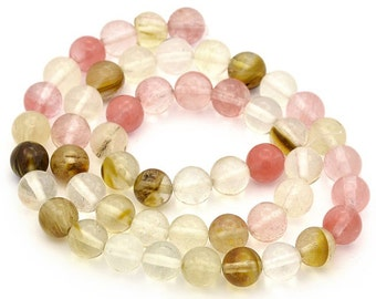 25 Watermelon 6mm Tourmaline Beads Multicoloured Stunning - BD913