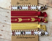 Boutique Hair ties FSU garnet and gold 5 pack - awesome gift game day