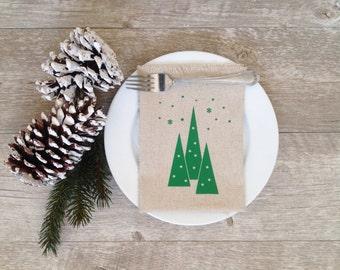 Christmas Napkins Cloth Christmas Napkins Holiday Linen Napkins Dining Serving Home Decor Tabletop Christmas Tablescape Christmas Dinner