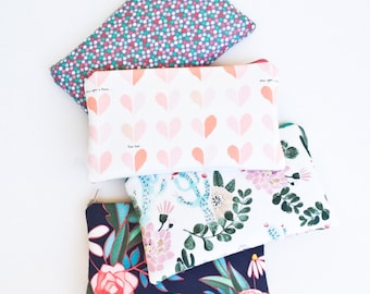 Cactus Zipper Pouch, Pencil Pouch Purse, Pencil Case, Desert and Floral, School Supplies Bag, Women, Best Friend, Co-Worker, Accessories