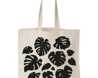 Monstera totebag / Fair trade cotton Screen printed
