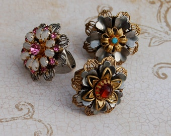 Handcrafted Rings with Vintage Style