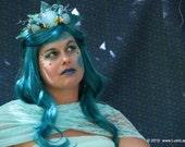 Mermaid Tiara Crown - Aqua and Blue Elegant Costume Accessory