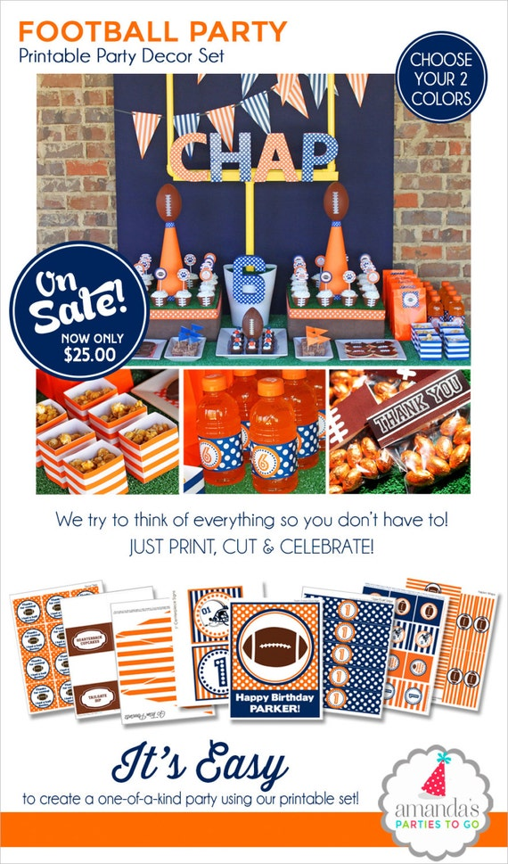 Football Birthday Party | Football Party Decorations | Printable Football Banner | 1st Birthday | Sports Birthday Party | Amanda's Parties