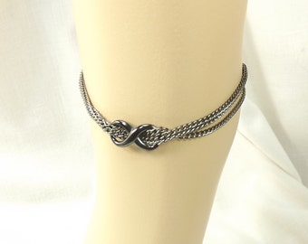 Infinity Ankle Bracelet Multi Chain Anklet body jewelry Infinty Anklet mature bdsm gift
