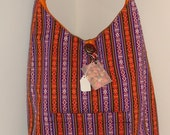 Stripey Indian boho bag, proceeds to charity
