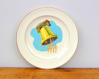 Vintage WWII United States Army Liberty Bell Plate