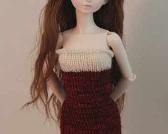 2 PC Knit Dress with Capelet for MSD