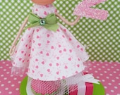 Second Birthday Clothespin Doll Table Centerpiece