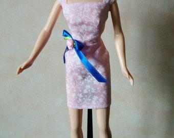 "Handmade 11.5"" Fashion Doll Clothes. Pink mini dress."