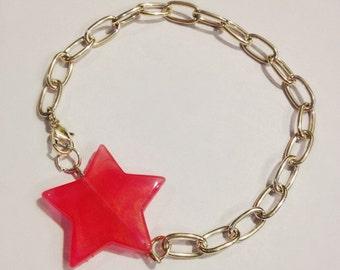 The Elizabeth Bracelet | Minimalist Star Bracelet | Pink Star Bracelet | Pearlesque Star Bracelet | Star Jewelry